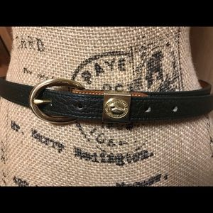 Vintage Dooney & Burke green brown women's belt